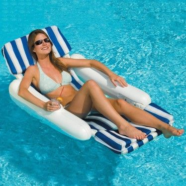 Swimline Replacement Padded Lounge Chair Sling Pool Lounger Swimming Pool Floats Pool Lounge