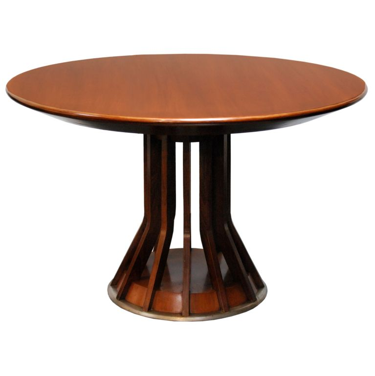 Walnut Pedestal Table By Angelo Mangiarotti 1stdibs Com Pedestal Table Round Coffee Table Furniture Dining Table