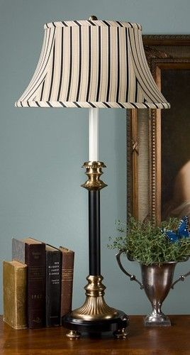 Fantastic Footed Buffet Lamp In Antique Brass And Black Set Of 2 Home Interior And Landscaping Elinuenasavecom