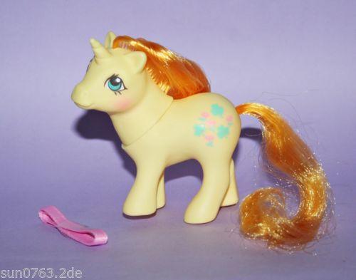 Mein-kleines-My-Little-Pony-G1-Baby-Lucky-Leaf-w-own-ribbon-Baby-Glueck