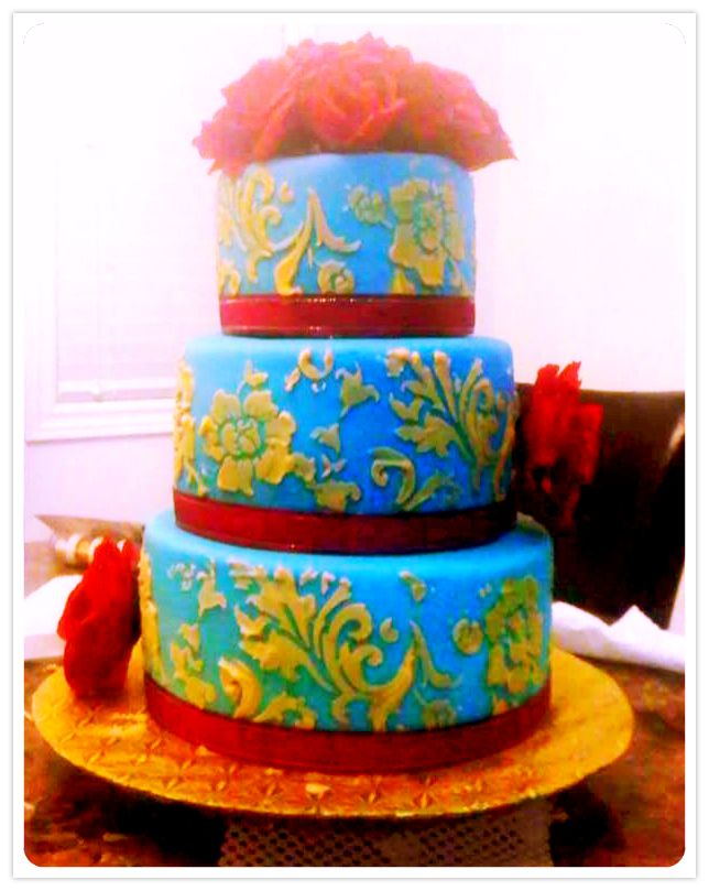 red velvet and chocolate layers with swiss meringue buttercream