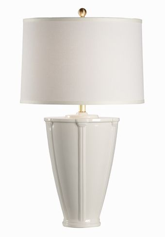 68845 Rita White Ceramic Table Lamp By Chelsea House On Sale At House Lamp Ceramic Table Lamps White Ceramics