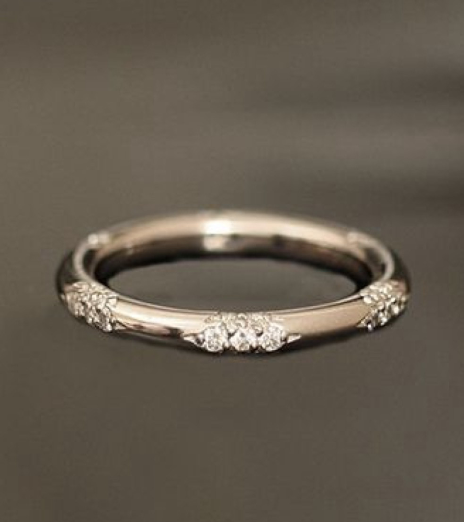 18k And Diamond Constellation Band Diamond Wedding Bands