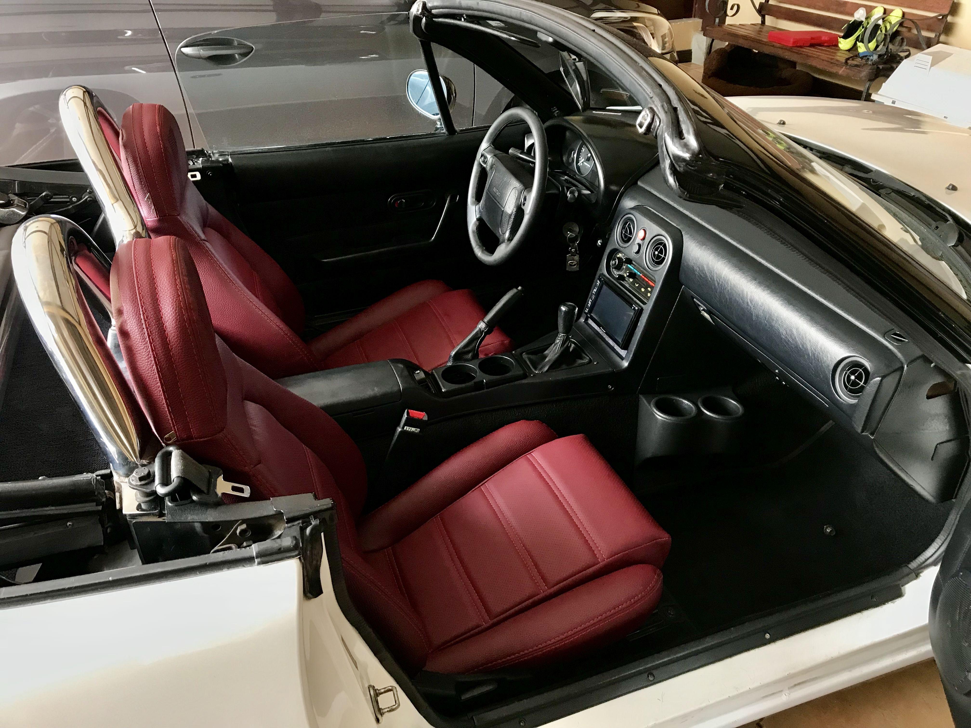 mazda miata mx5 red leather seats miata mx5 cars interiors miata always mx 5 mazda cars. Black Bedroom Furniture Sets. Home Design Ideas