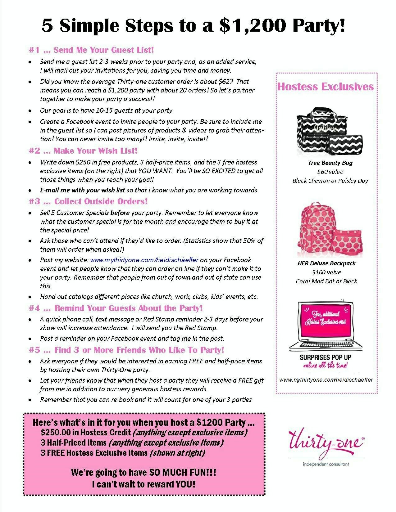 5 Simple Steps to having a $1200 Thirty-One Party   Thirty-one ...