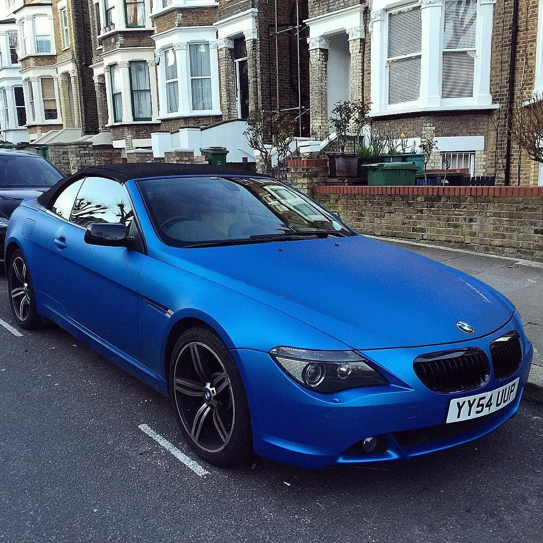 Stunning #BMW 6 Series With A Matte Metallic Blue Wrap