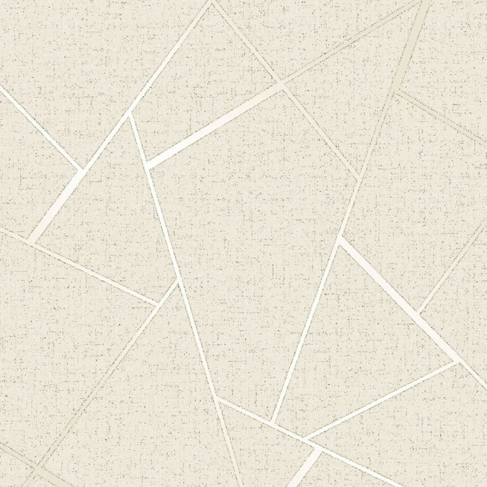Quartz Fractal Wallpaper Geometric Metallic Cream Gold Fd42281