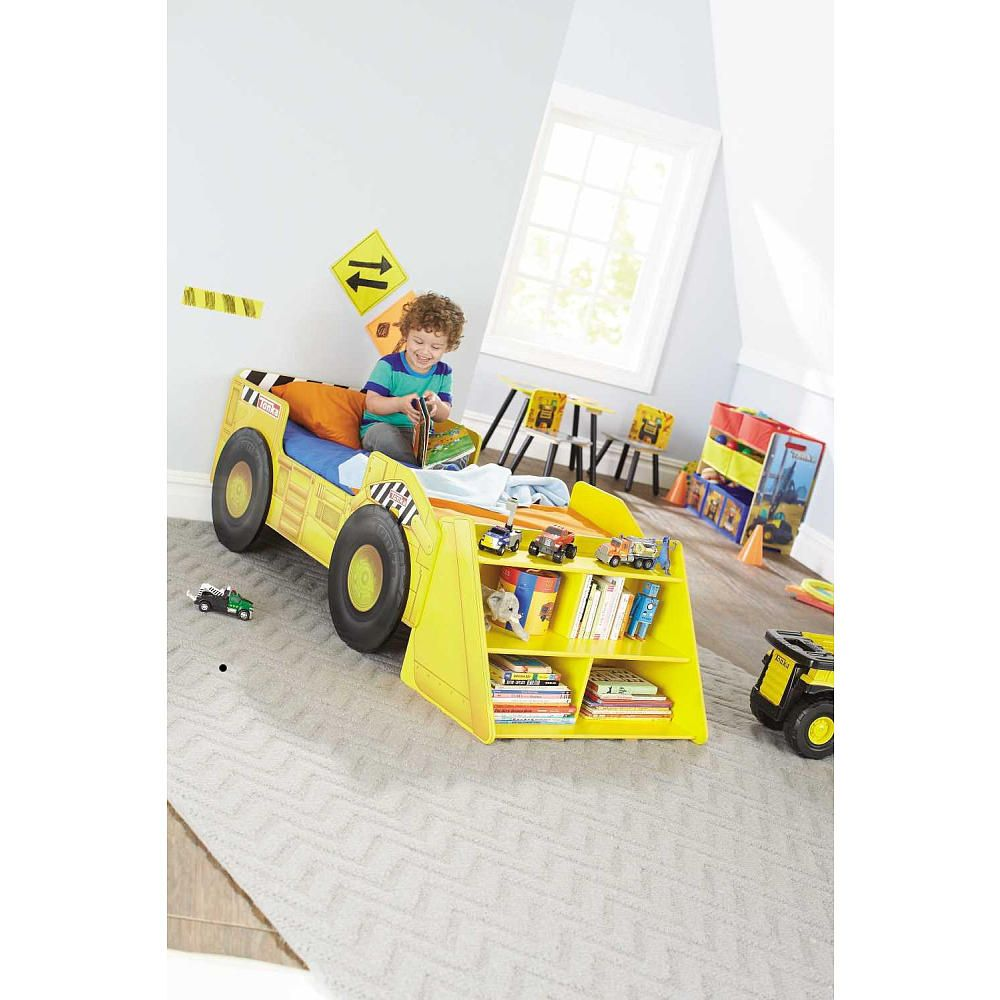 Tonka Truck Toddler Bed With Storage Shelf Maxim Enterprise In  # Muebles Little Tikes