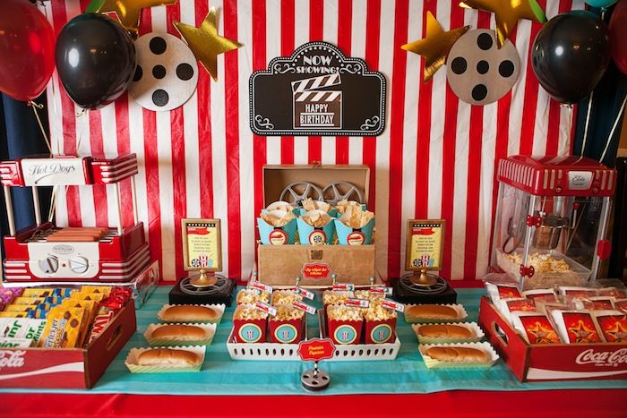 Movie Themed Birthday Party Movie Themed Party Movie Birthday Party Movie Theatre Birthday Party