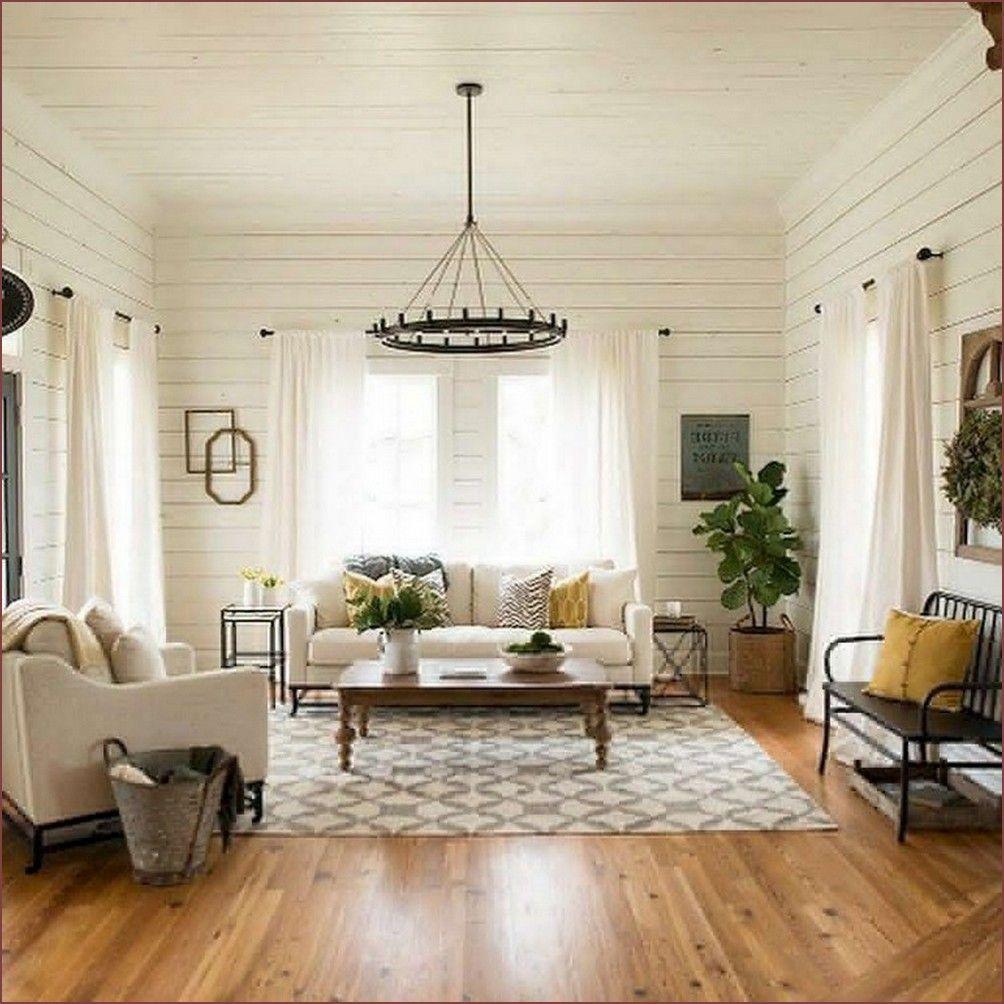 50+ Cozy Modern Farmhouse Living Room First Apartment ...
