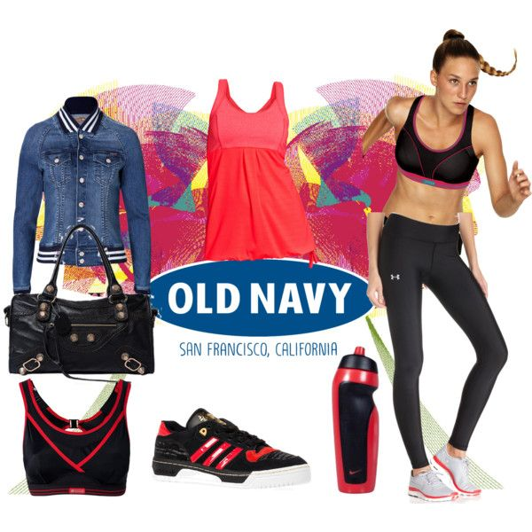 Play ON With Active by Old Navy by coppin-s on Polyvore featuring Mother, Under Armour, Shock Absorber, Old Navy, adidas and NIKE