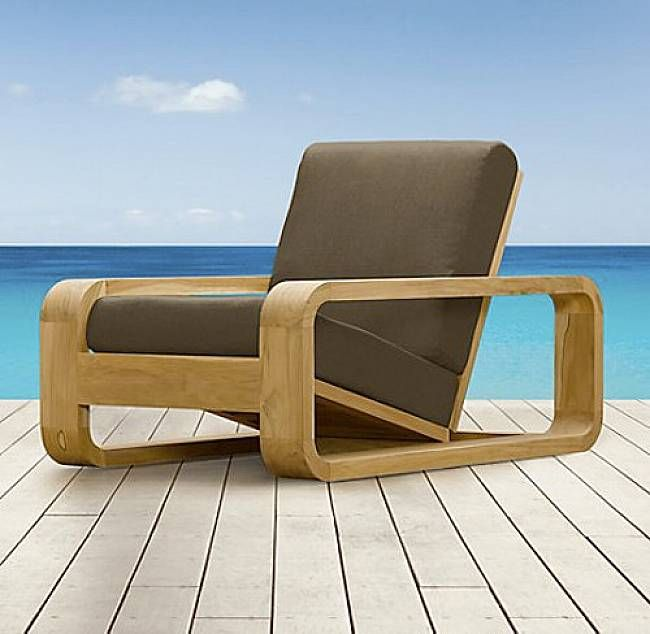 Modern Outdoor Lounge Chairs Clearance Dark Brown Color With Wooden Frames Unique Design Lounge Chair Outdoor Modern Outdoor Lounge Chair Lounge Chair Cushions