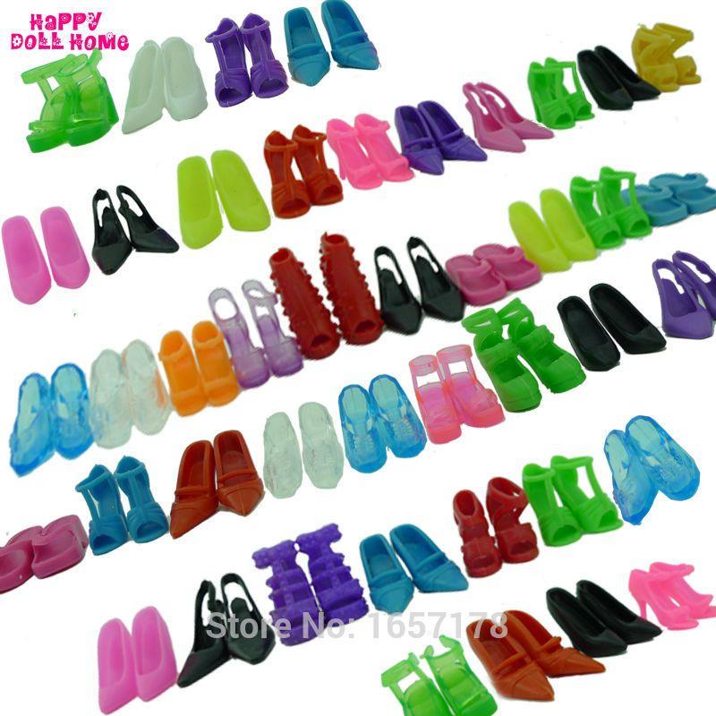 12 Pairs Mischte Mode Bunte High Heels Sandalen Zubehör Für Barbie Puppe Schuhe Kleidung Kleid Prop Mädchen Baby Beste Geschenk spielzeug