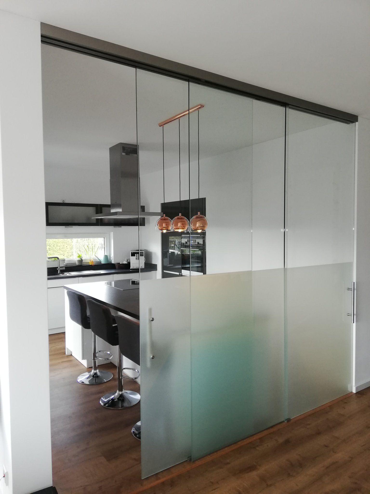 Fur Mehr Struktur Im Offenen Haus In 2020 Glaswand Kuche
