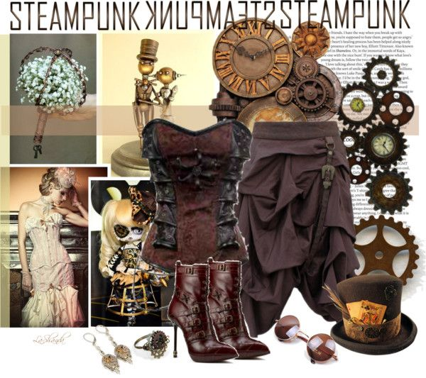 """""""Fun with Friends 105: Steampunk Victorian Clock"""" by lashandanista ❤ liked on Polyvore"""