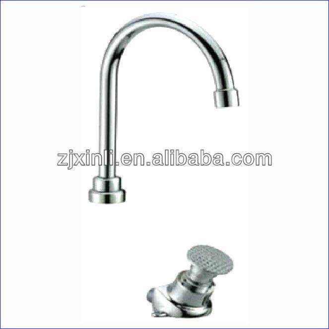 X10164 Deck Mounted Chrome Color Brass Material Hospital Pedal Faucet Bathroom Fixtures Chrome Colour