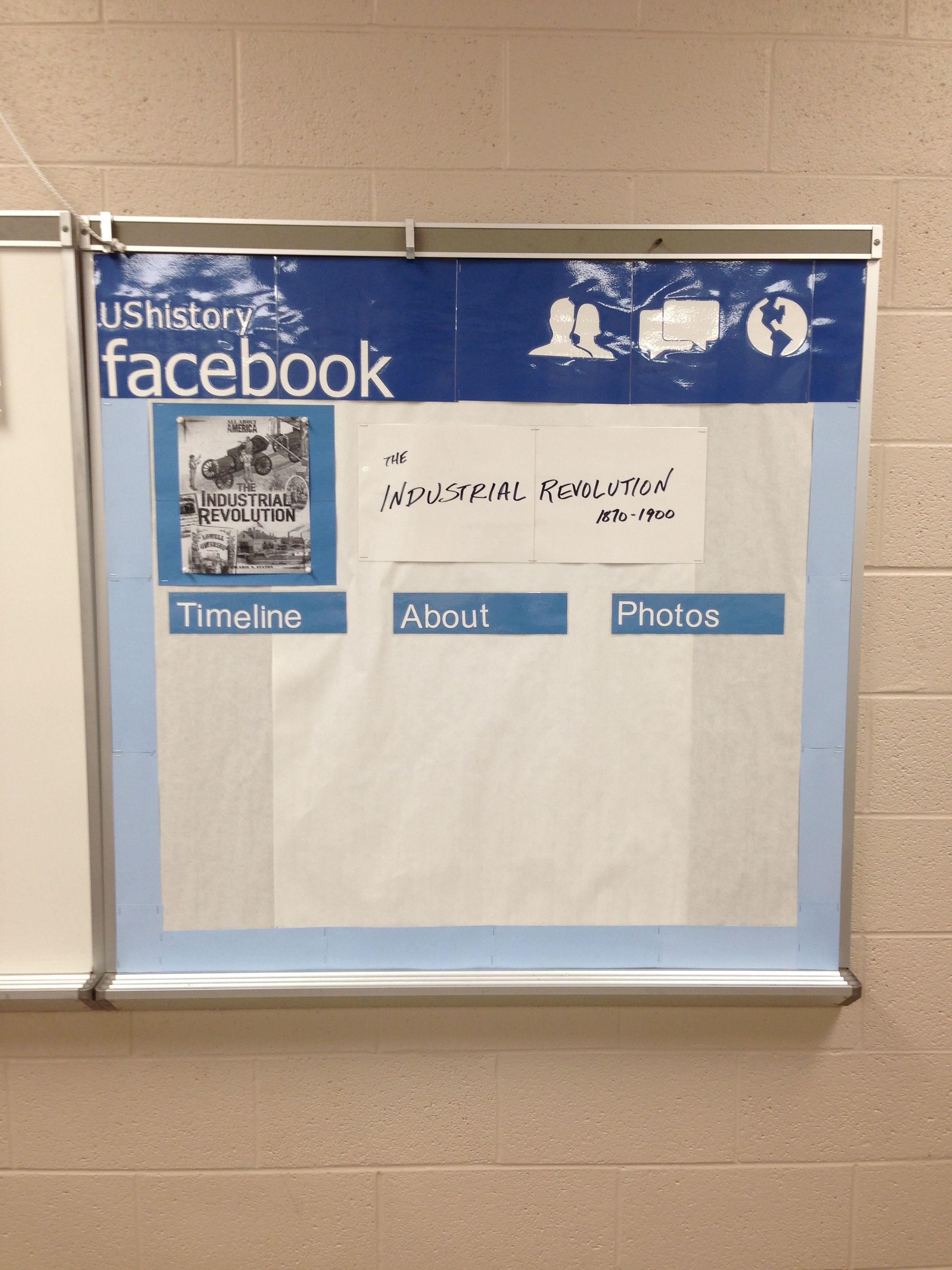 Facebook Profile Bulletin Board For High School History
