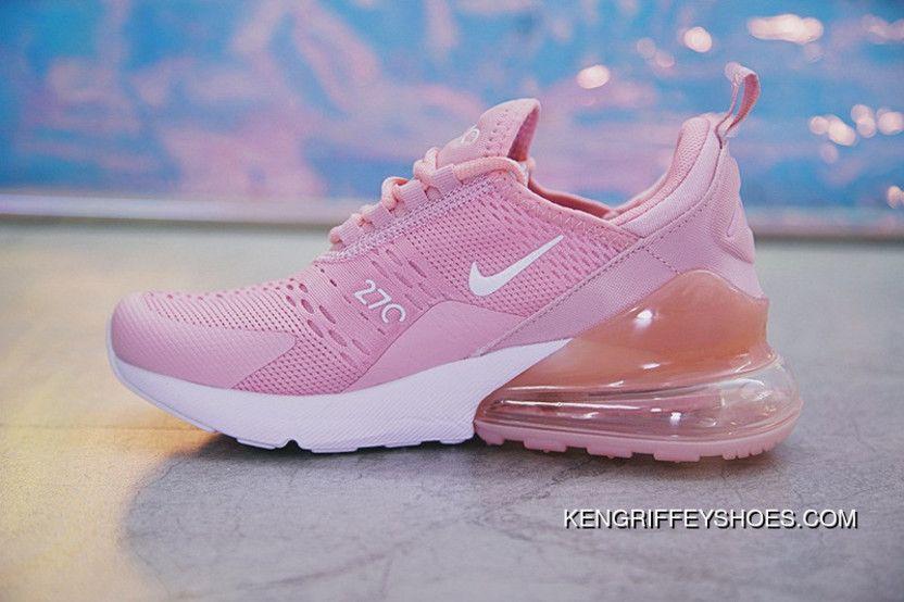 8b87f6b39d3 18SS Nike Air Max 270 AH8050-610 Pink White Women New Year Deals in ...