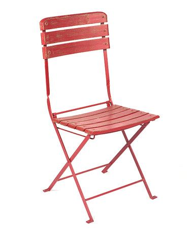 another great find on zulily red cafe chair zulilyfinds - Red Cafe Ideas
