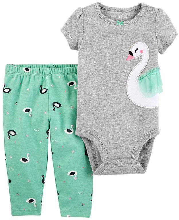 05a68afbe8c6 2-pc. Bodysuit Set-Baby Girls  Bodysuit pc Carter