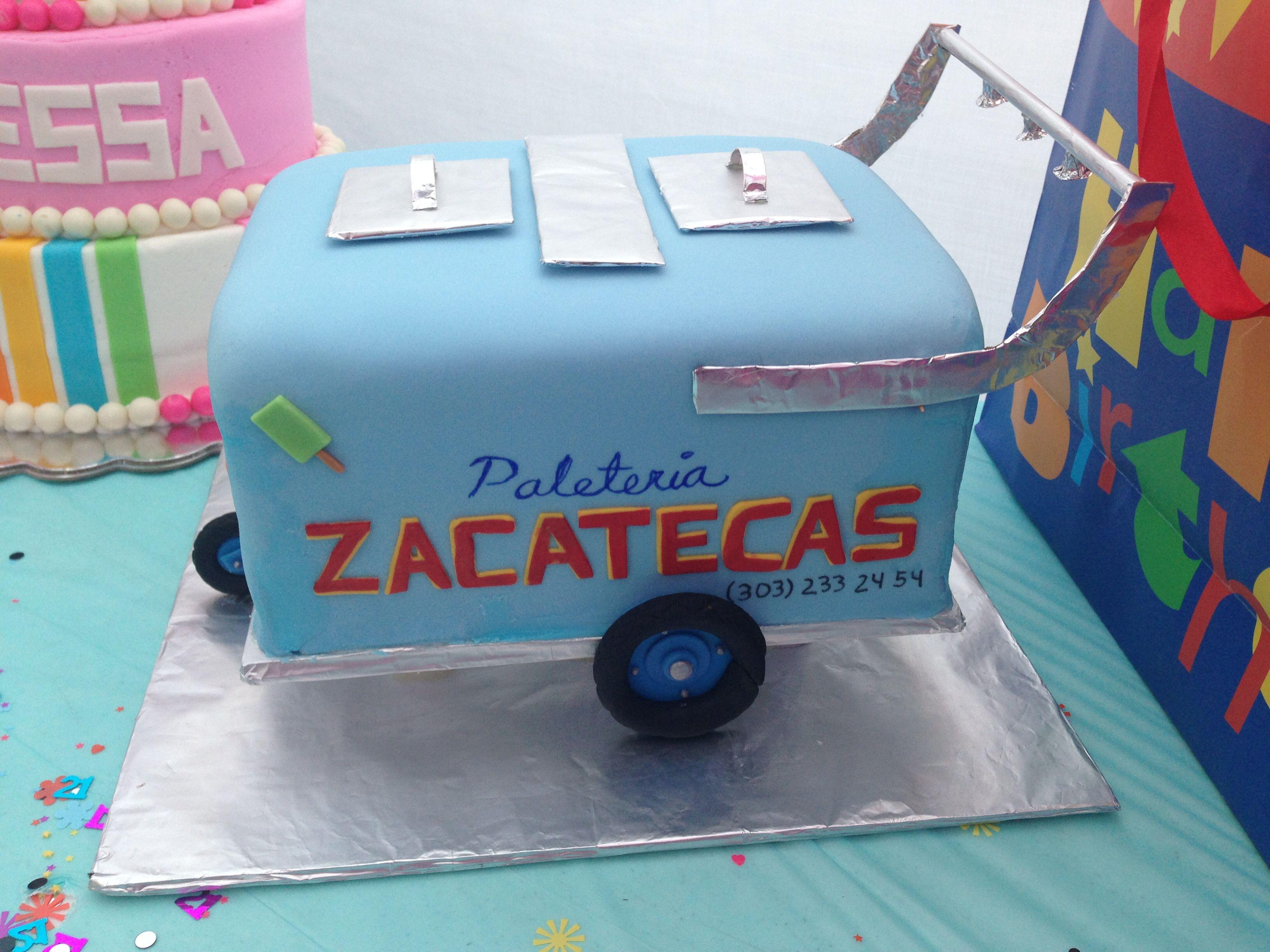 Ice Cream Push Cart Cake Party Decor By Muaahh Pinterest Cake