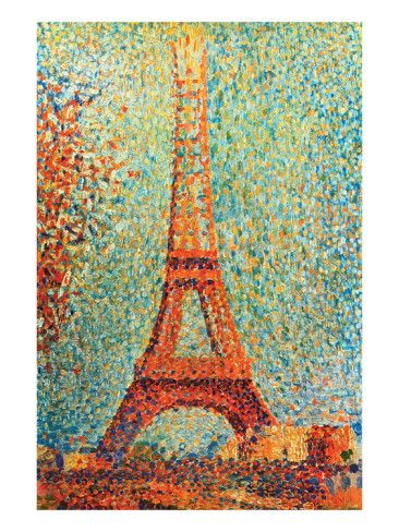 La Tour Eiffel (seurat) : eiffel, (seurat), Eiffel, Tower', Poster, Georges, Seurat, AllPosters.com, Tower, Painting,, Paintings