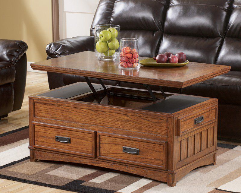 table gain place salon table coffre bois massif plateau. Black Bedroom Furniture Sets. Home Design Ideas