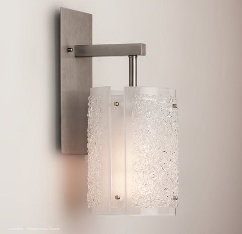 "Rimelight 13"" Fused Glass Wall Sconce 