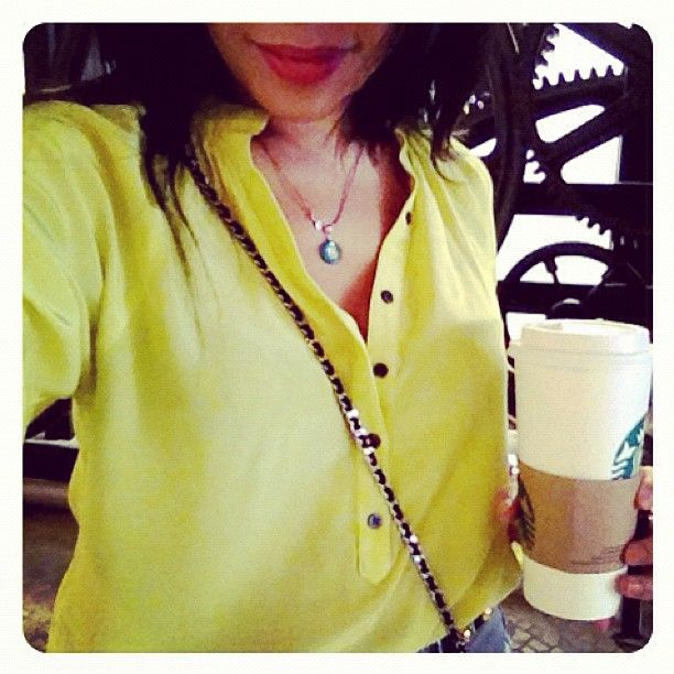 Classic Silk Blouse Never Goes Out Of Style! Rockin' #yumikim Kyle Top 2day. Mellow Yellow Mode! By Yumi Kim