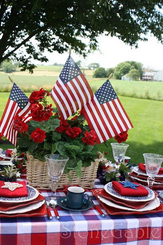 Easy Table Decorations For 4th Of July Independence Day Simple