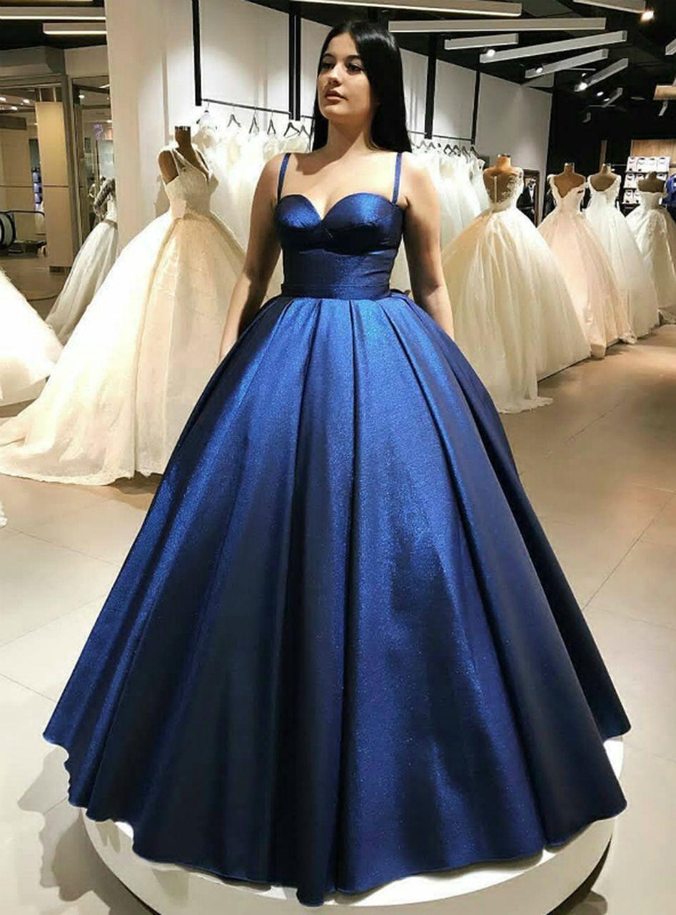 Charming Spaghetti Straps Evening Dresses Blue Sweetheart Neckline Ball Prom Dresses Ball Gown Royal Blue Bridesmaid Dresses Blue Bridesmaid Dresses Uk [ 1280 x 947 Pixel ]
