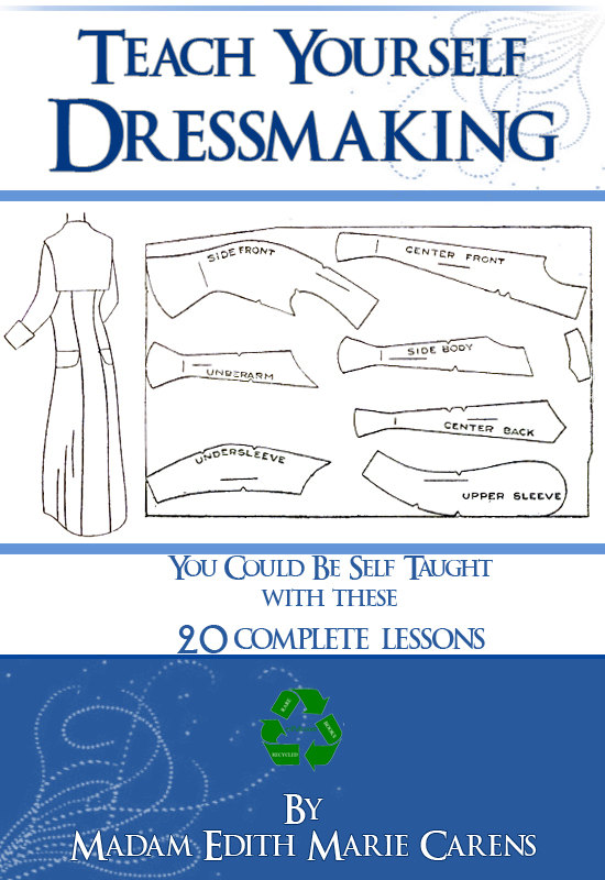 Teach Yourself Dressmaking 20 Complete Lessons Design Art Deco