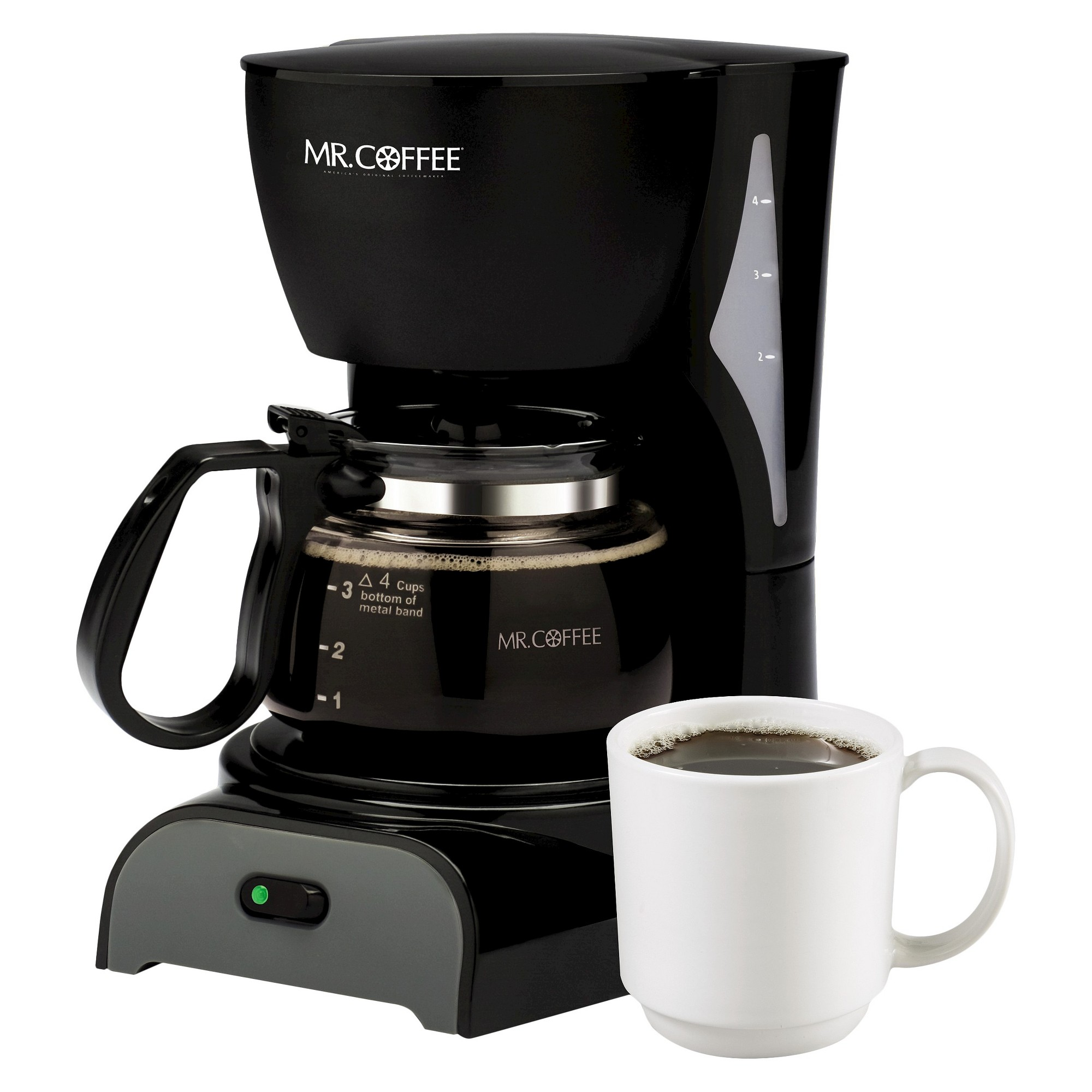 Mr. Coffee 4 Cup Coffee Maker Black DR5NP 4 cup coffee
