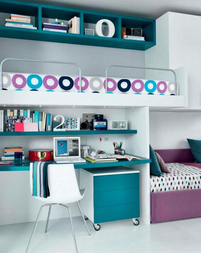 Kinderzimmermöbel Ideen Platzsparende Hochbetten zimmer