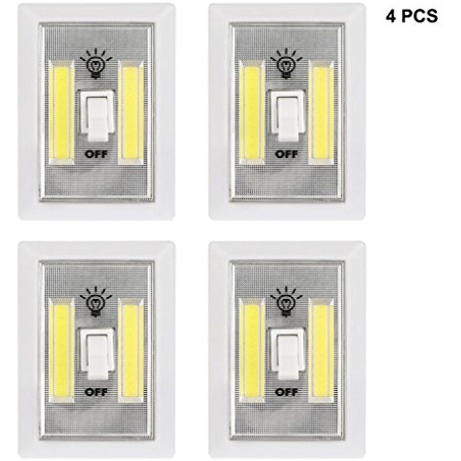 Cob Promier Dual Led Wireless Night Light With Switch Led Light Switch Wireless Night Light Light Switch