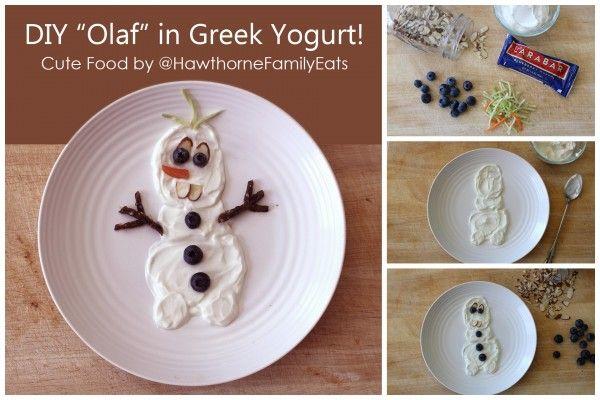 DIY Olaf in Greek Yogurt #StonyfieldBlogger