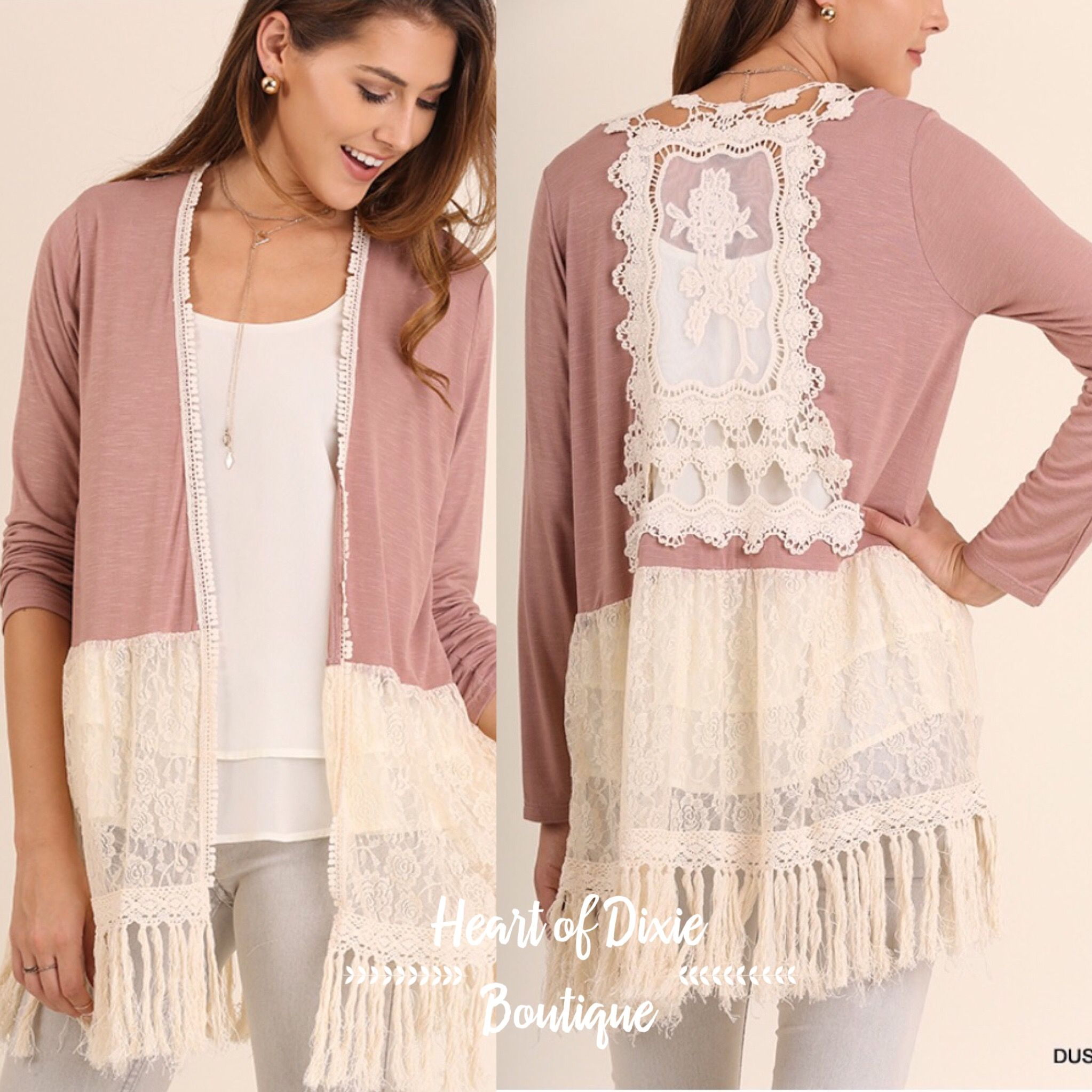 Cute cute UmGee Lace Back Cardigan! $28! Message me for details ...