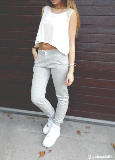 grey sweatpants for girls