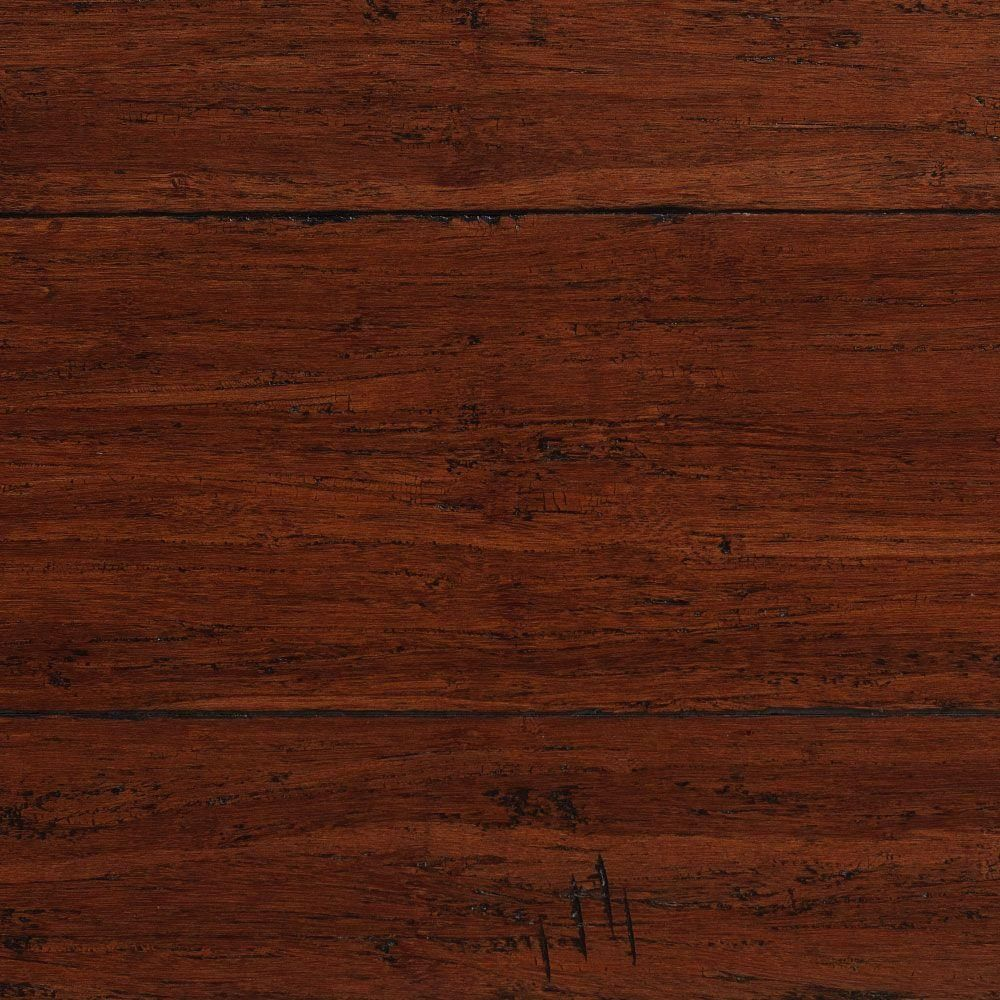 Home Decorators Collection Hand Scraped Strand Woven Dark Carmel 1 2 In T X 5 1 8 In W X 72 7 8 In L Solid Bamboo Flooring 25 93 Sq Ft Case Am1314 The Ho Engineered Bamboo Flooring