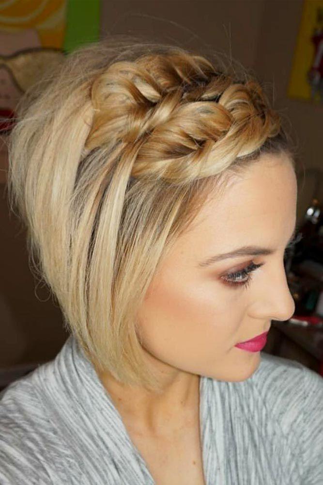 15 Cute Braided Hairstyles For Short Hair   LoveHairStyles ...