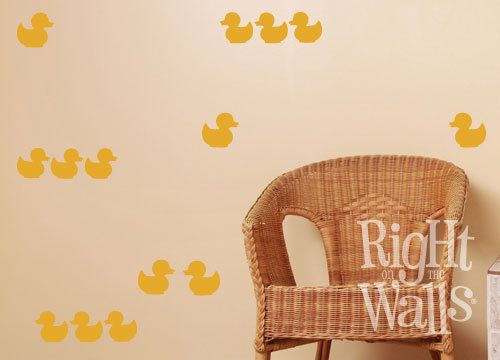 Rubber Ducky Duck 24pc Vinyl Wall Decals by RightOnTheWalls ...