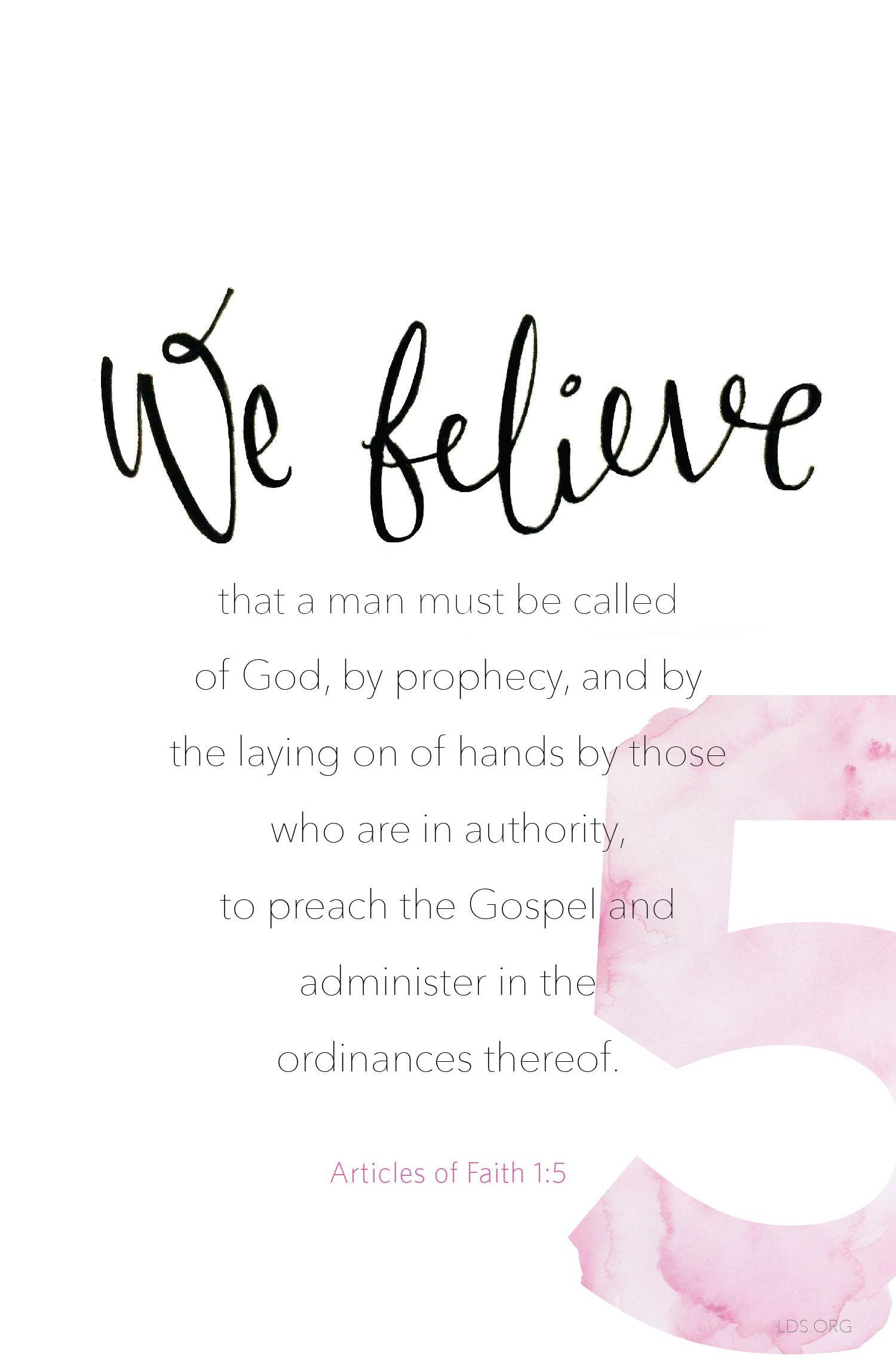 Article Of Faith 1 5 Faith Lds