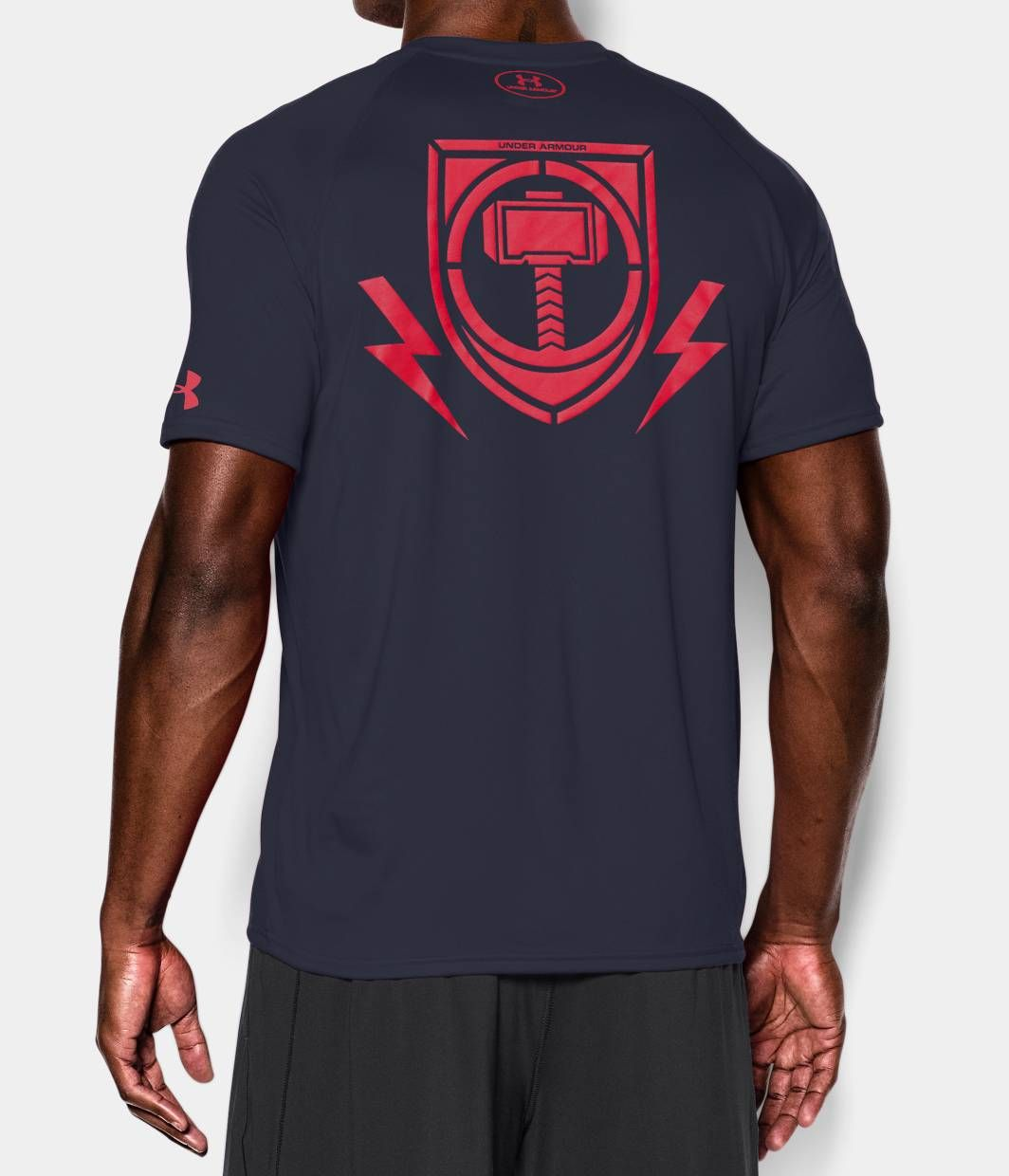 Men 39 s under armour alter ego avengers thor t shirt for Hulk under armour compression shirt