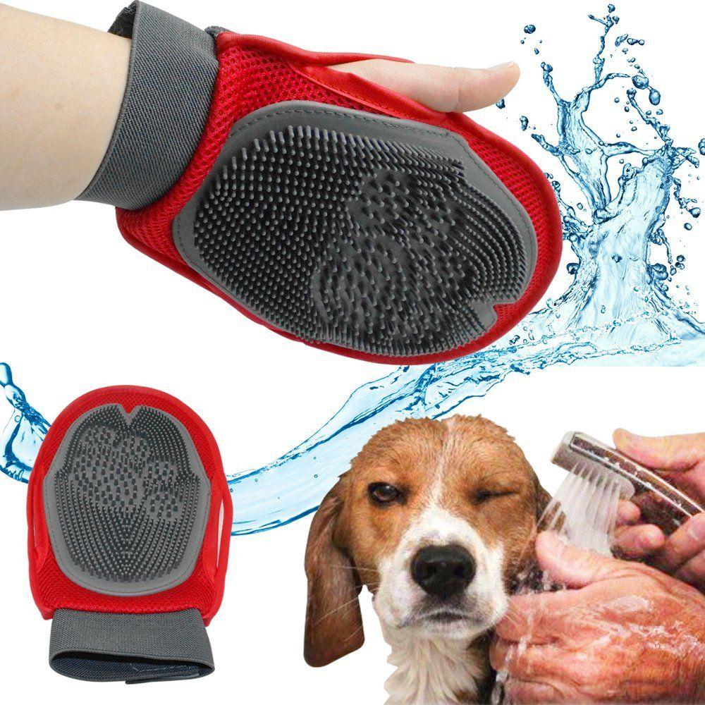 pet brush glove cat hair brush grooming fur rubber removal mitt dog rh pinterest co uk