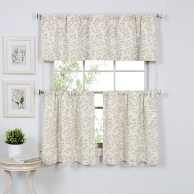 serene window curtain tier pairs and valance bedbathandbeyond com rh pinterest co uk