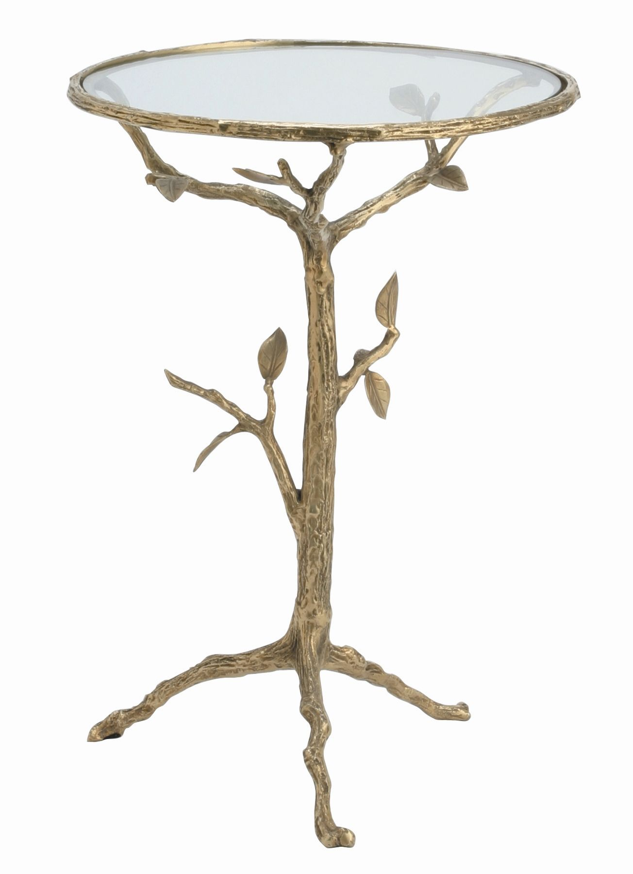 ARTERIORS Home Sherwood Accent Table in Distressed Antique Brass