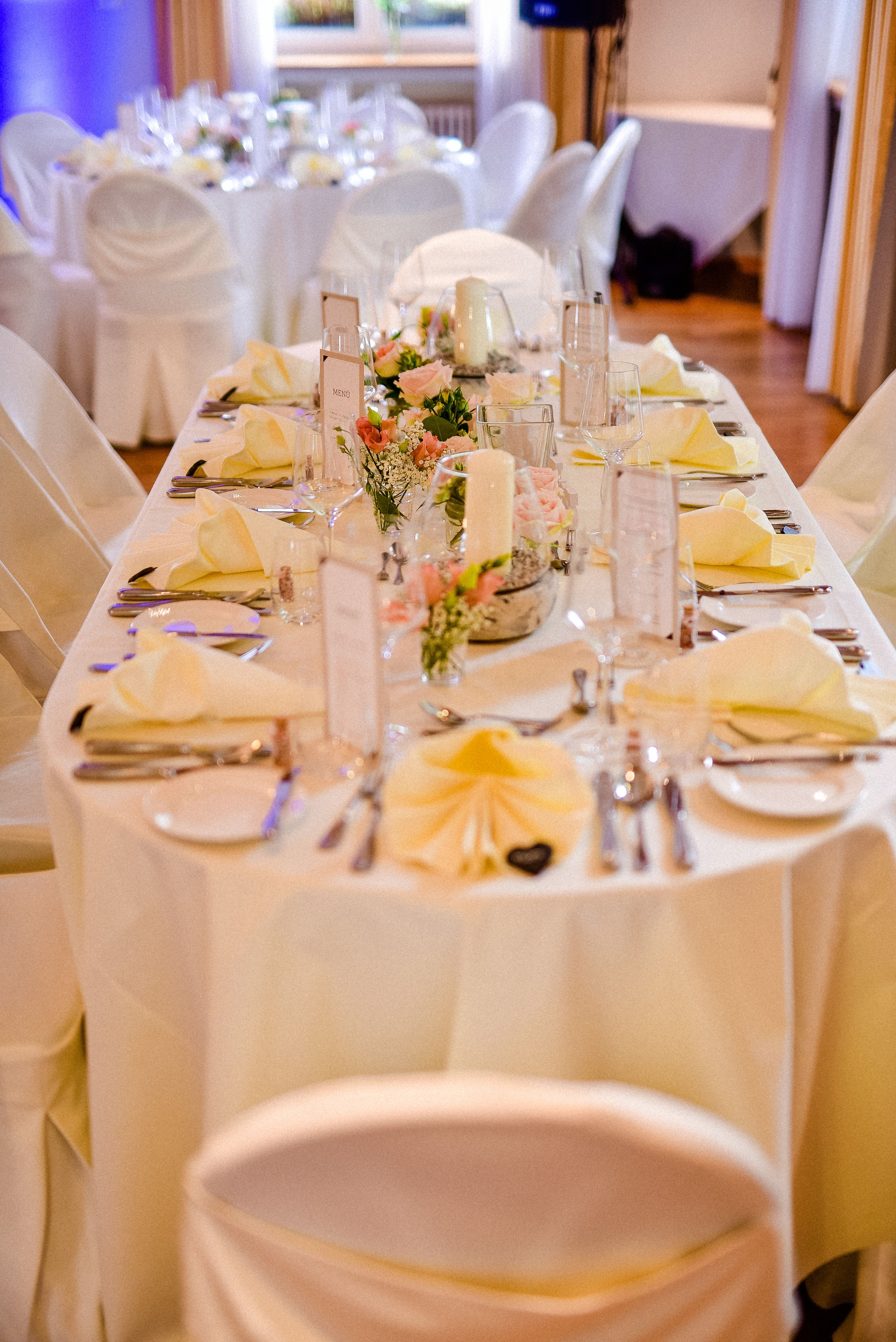 Elegante Hochzeit Deko Rund Um Den Bankettsaal Das Wunderschone