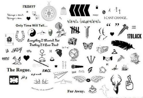 One Direction Tattoos One Direction Tattoos One Direction Boy Tattoos