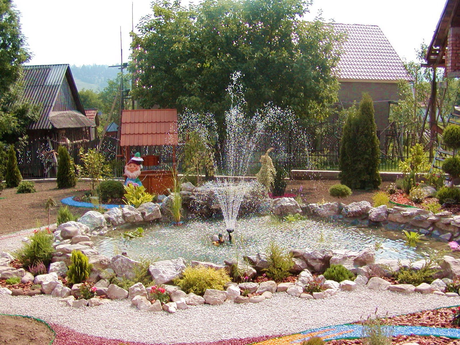 gardening ideas pictures landscape garden design with fountain