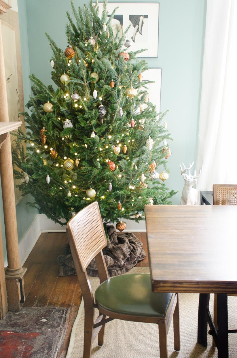 High trees garden centre  Metallic Woodland Christmas Tree  LIVING  DINING ROOMS  Pinterest